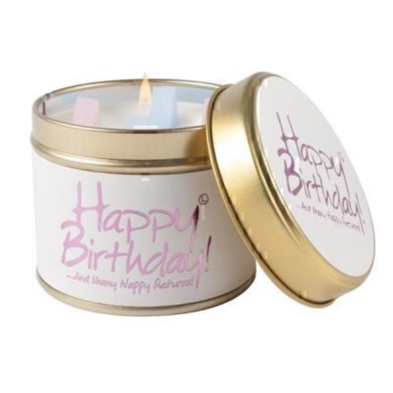 Happy Birthday Scented Candle by Lily Flame: Booker Gifts